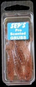 3 inch Scented Pro Grubs - Brown Speck #3