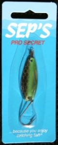 Pro Secret Lures - Specialty Finish - Silver/Green Tire Trak