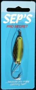 Pro Secret Lures - Specialty Finish - Silver/Chartreuse Tire Trak
