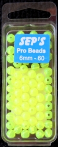 Pro Beads Chartreuse 6mm