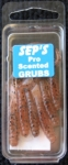 2 inch Scented Pro Grubs - Brown Speck #2