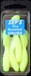 3 inch Scented Pro Grubs - Chartreuse #3