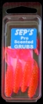 3 inch Scented Pro Grubs - Hot Pink #3