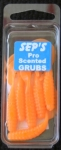 2 inch Scented Pro Grubs - Orange #2